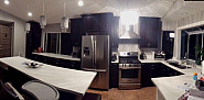Remodeled kitchen has lots of space
