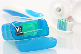 Photo of dental floss by zimmytws/istockphoto.com.