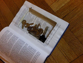 Tip #1 for upcycling old books: The Secret Stash.