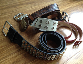 Old belts have so much potential for creative reuse. (Photo by Sayward Rebhal.)