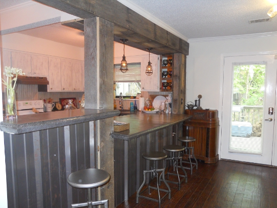 The work pays off with beautiful concrete countertops like these. Photos by Lee Anne Culpepper.