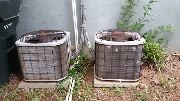 A/C units -- old but working fine